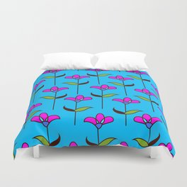 Genevieve - Blue and Pink Duvet Cover