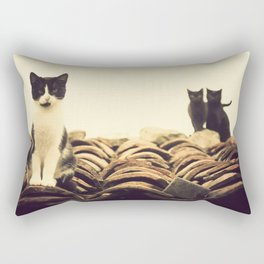 gatos en el tejado Rectangular Pillow