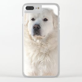 Great Pyrenees dog Clear iPhone Case
