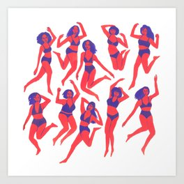 Underwear Dancing Art Print