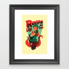 Roller Girl  Framed Art Print