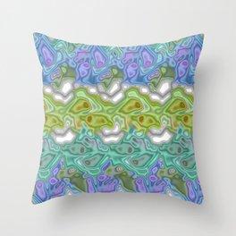 Topography Digital Bayadere Stripe Throw Pillow