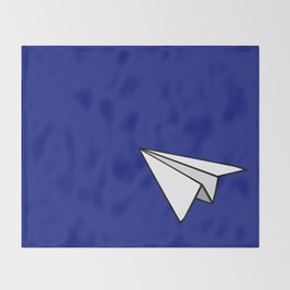 Paper Plane Throw Blanket
