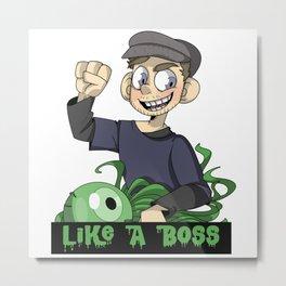 Like A Boss JackSepticEye Funny Best T-shirt Youtuber Metal Print
