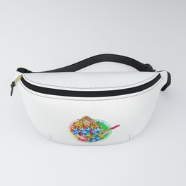 Guitar Playing Hippie for Retro Throwback Lover Fanny Pack
