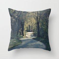 The love trail Throw Pillow