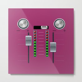 The sound system pink Metal Print
