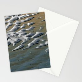 Wet Sand Texture Seashore Abstract Stationery Cards