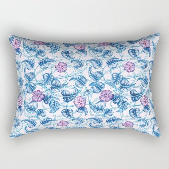 Ipomea Flower_ Morning Glory Floral Pattern Rectangular Pillow