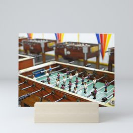 Soccer tables Mini Art Print