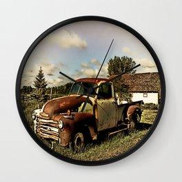 Rusty '51 Chevy Pickup Wall Clock