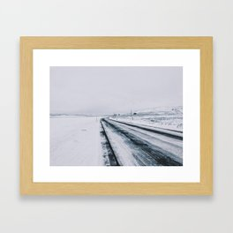 Icy Road Framed Art Print