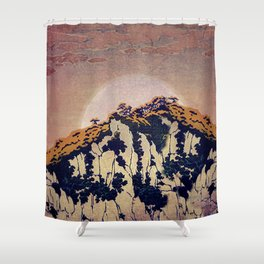 Guiding me across Nobe Shower Curtain