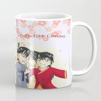conan Mugs featuring Detective Conan by Black Wing