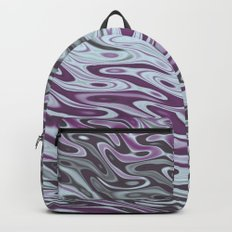 Ripples Fractal in Muted Plums Backpack