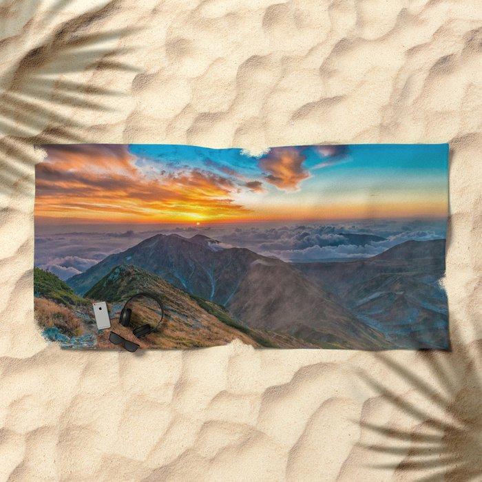 Northern Alps I Beach Towel