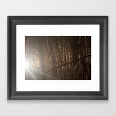 Show your light. Framed Art Print