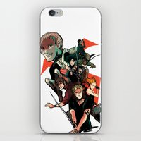 mortal instruments iPhone & iPod Skins featuring The Mortal Instruments by The Radioactive Peach