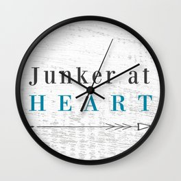 Junker at Heart Wall Clock