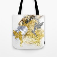 fairies Tote Bags featuring Glitter Fairies by haroulita