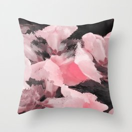Light Pink Snapdragons Abstract Flowers Throw Pillow