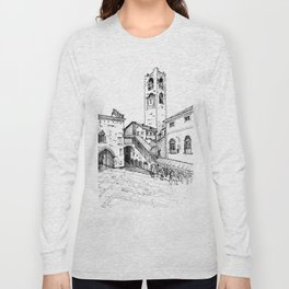 Old Square, Bergamo Long Sleeve T-shirt