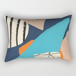 abstract collage Rectangular Pillow