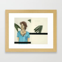 V-Necks & Their Shady Depths Framed Art Print