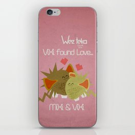 """Caught in love"" Pink - MiXi meets ViXi - Wezteka Union iPhone Skin"