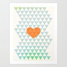 Crazy about Love Art Print
