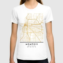 MEMPHIS TENNESSEE CITY STREET MAP ART T-shirt