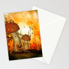 The fairy house in the night Stationery Cards