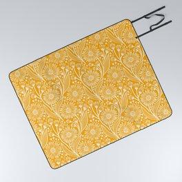 Saffron Coneflowers Picnic Blanket