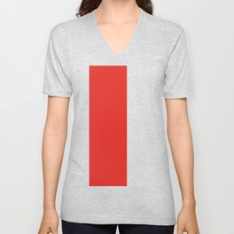 rayures blanches et rouges 7 Unisex V-Neck