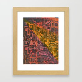 Where Are YOU / Density Series Framed Art Print