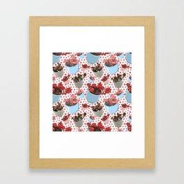 Beautiful Succulent Pattern Framed Art Print