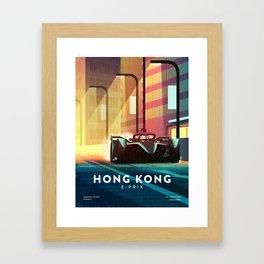 Hong Kong E-Prix Framed Art Print
