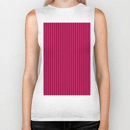 Red, crimson, striped, stroke Biker Tank