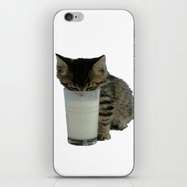 Cute Wild Kitten With A Glass Full of Optimism iPhone Skin