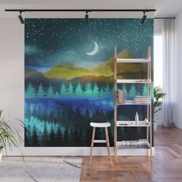Silent Forest Night Wall Mural