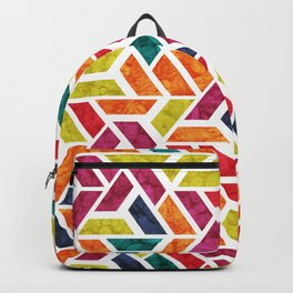 Seamless Colorful Geometric Pattern XII Backpack