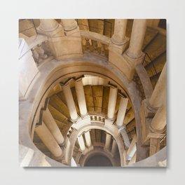 Borromini staircase, Barberini Palace, classical architecture, Roma, Museum in Rome, Bernini Metal Print