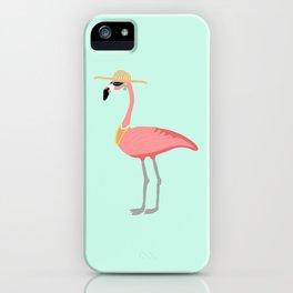 Flirty Flamingo iPhone Case