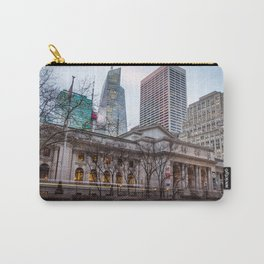 New York Public Library : old vs new buildings Carry-All Pouch