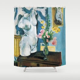 The Plaster Torso - Henri Matisse - Exhibition Poster Shower Curtain