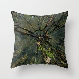 In the middle of the tree Throw Pillow