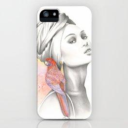 Bird Turbant Girl iPhone Case