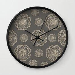 Gold Romantic Mandala Pattern #1 #decor #art #society6 Wall Clock