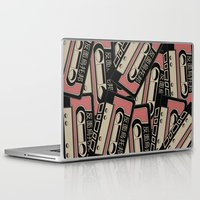 cassette Laptop & iPad Skins featuring Broken Cassette by Sophie Bland