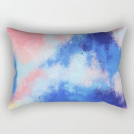 Spring vibes: pink & blue abstract Rectangular Pillow